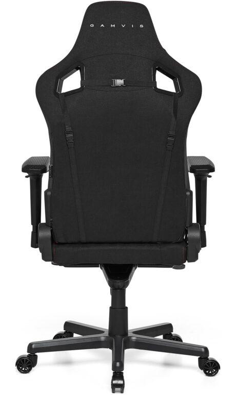 Materiałowy Fotel gamingowy Gamvis Elite 2.0 XL Pikowany Czarny Villa Red