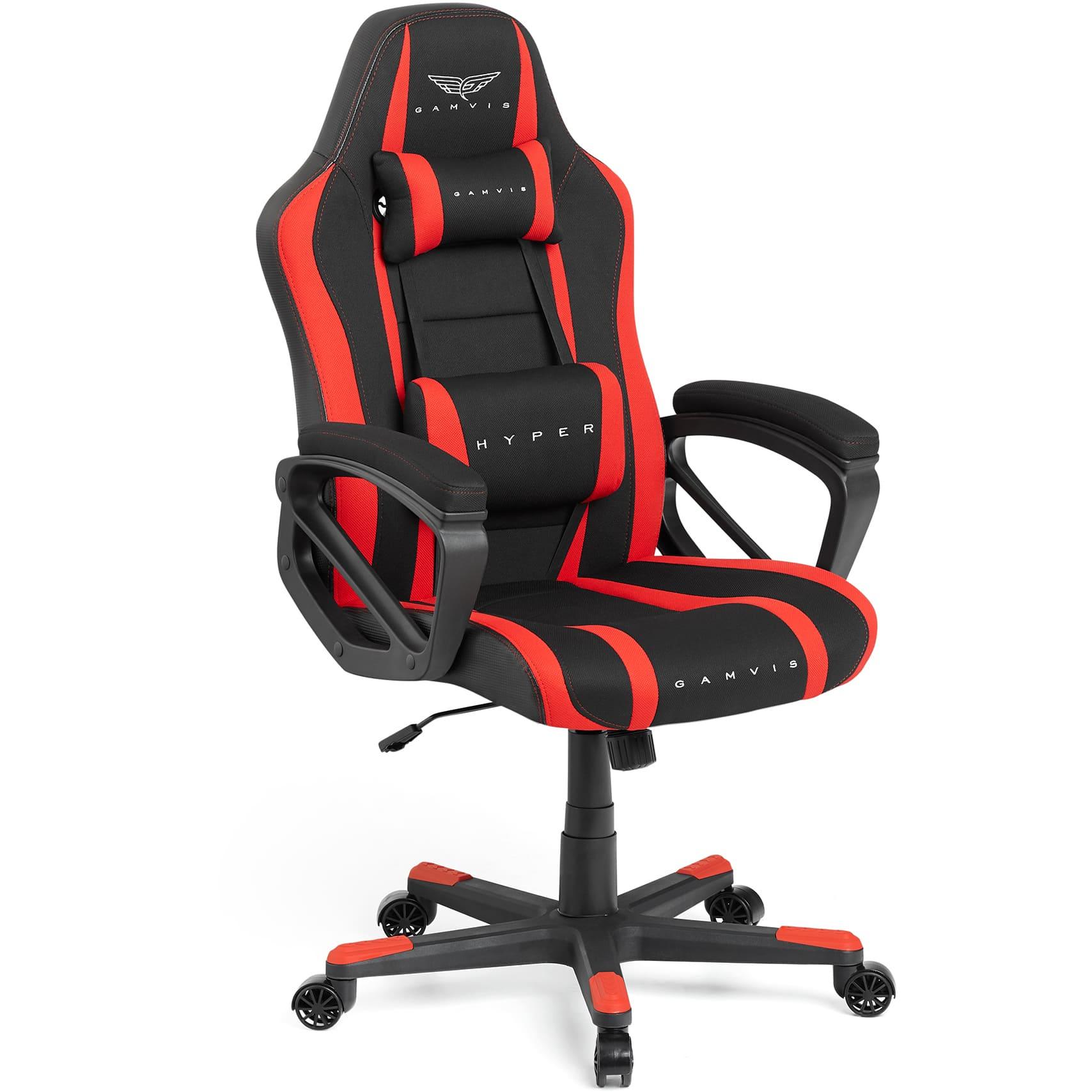 Materiałowy Fotel gamingowy Gamvis Hyper Czerwony 1