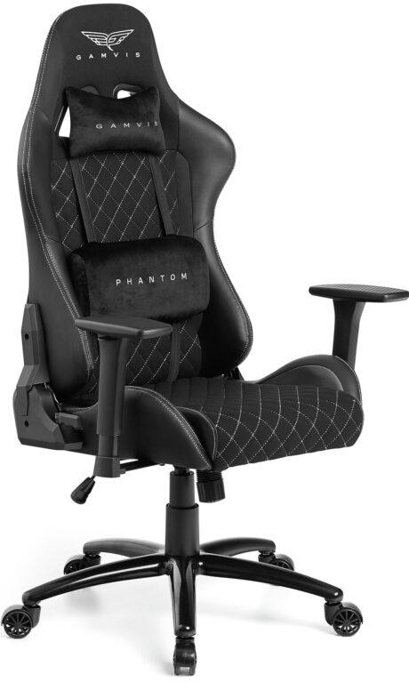 Materiałowy Fotel gamingowy Gamvis Phantom Czarny 11-min-min