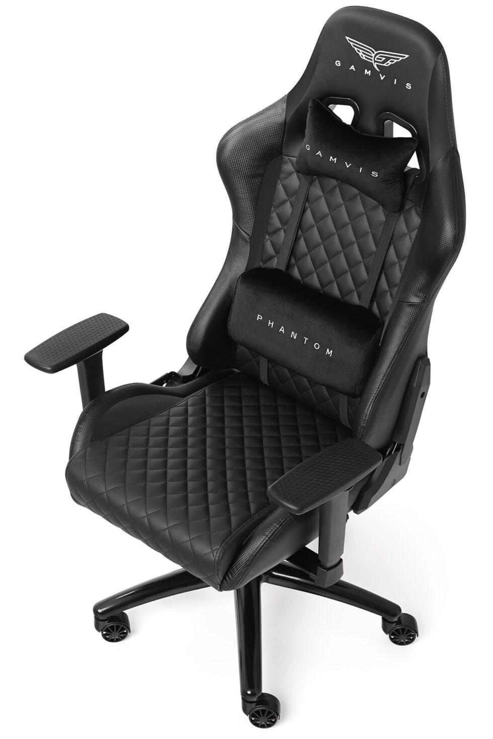 Pikowany Fotel gamingowy Gamvis Phantom Czarny 2