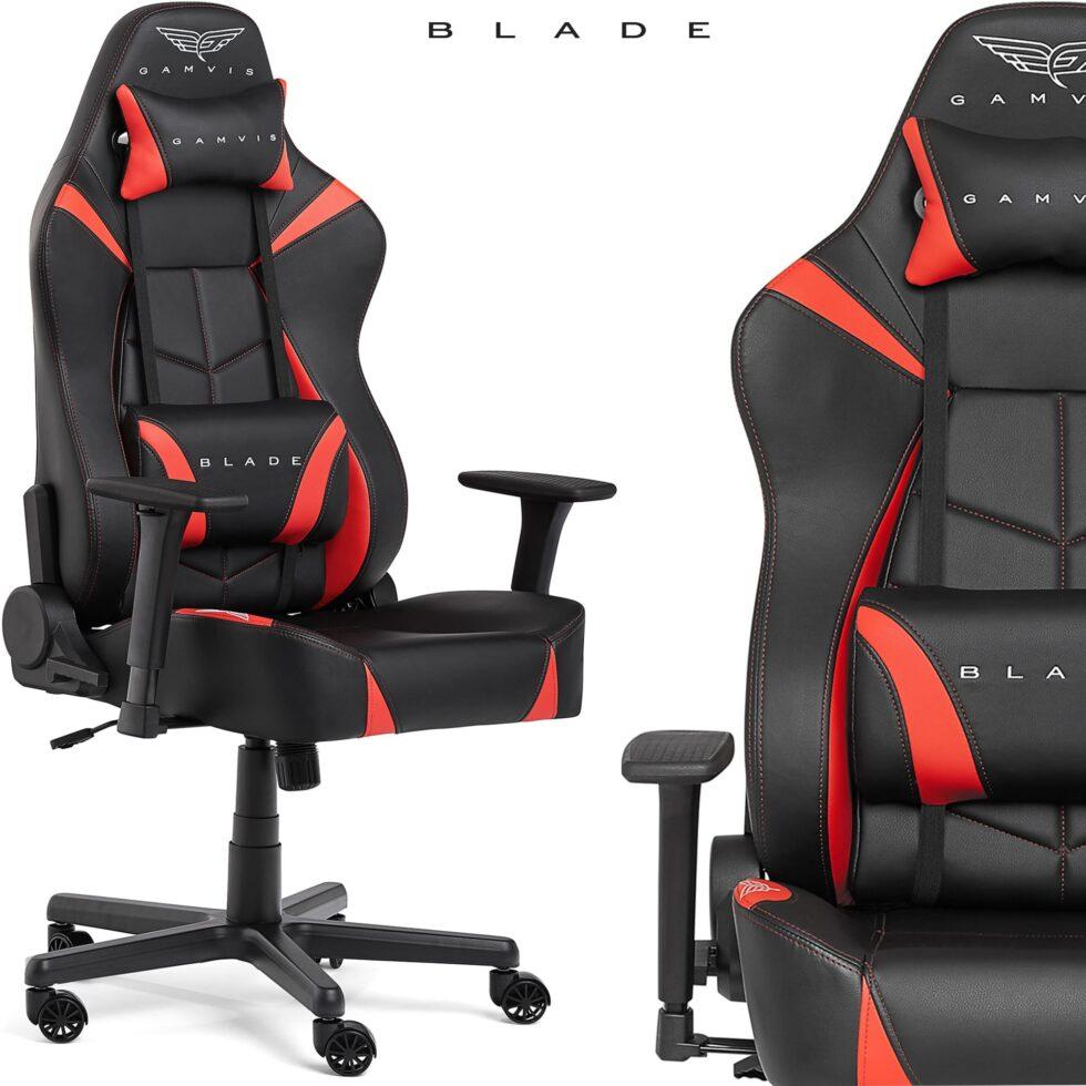 Fotel Gamingowy Gamvis BLADE Czerwony XL