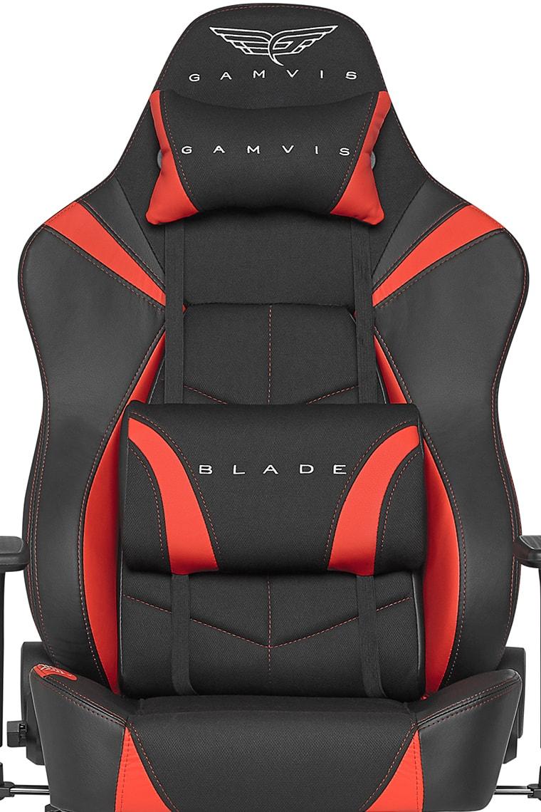 Materiałowy Fotel Gamingowy Gamvis BLADE Czerwony XL