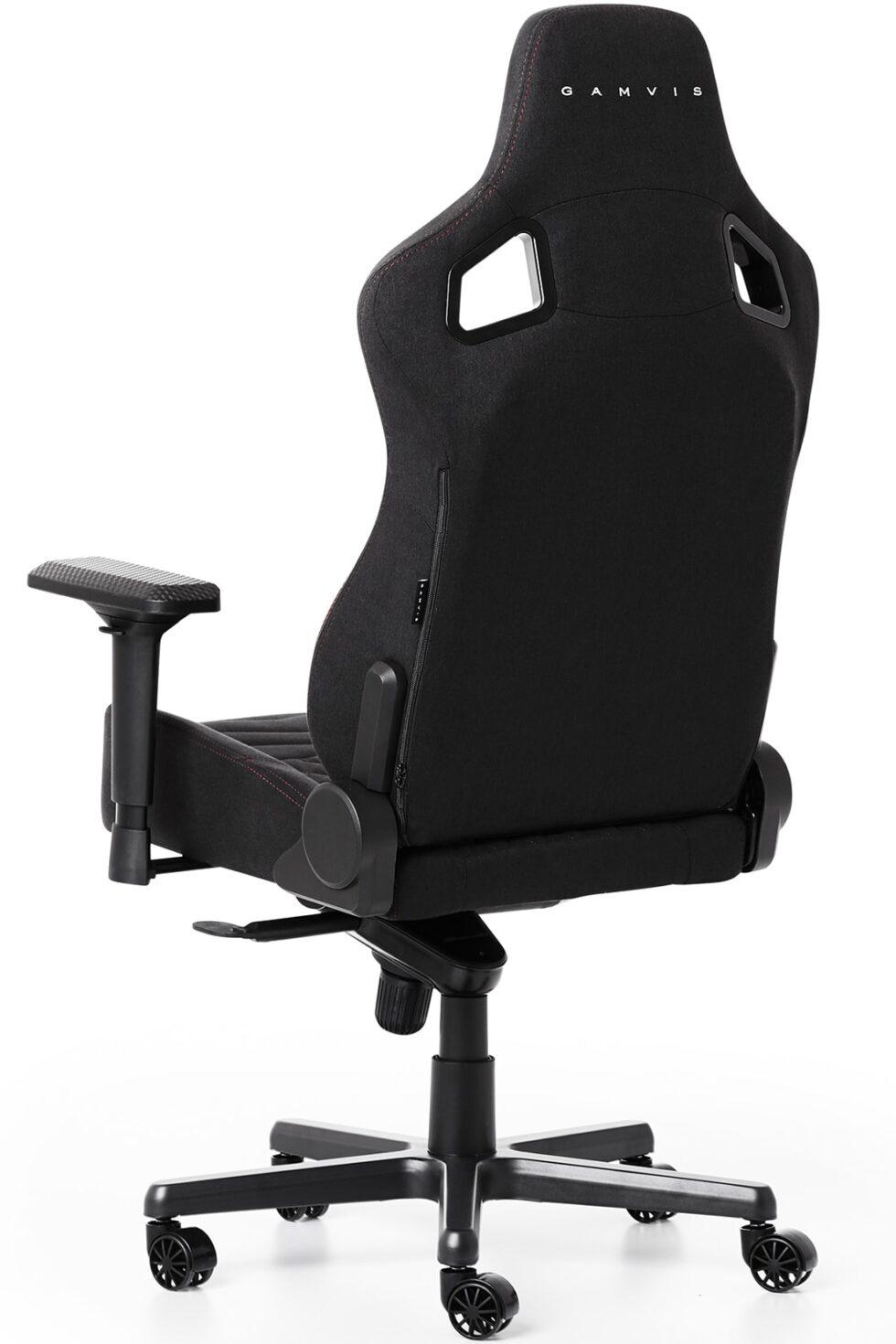 Materiałowy Fotel Gamingowy Gamvis ELITE Czarny XL
