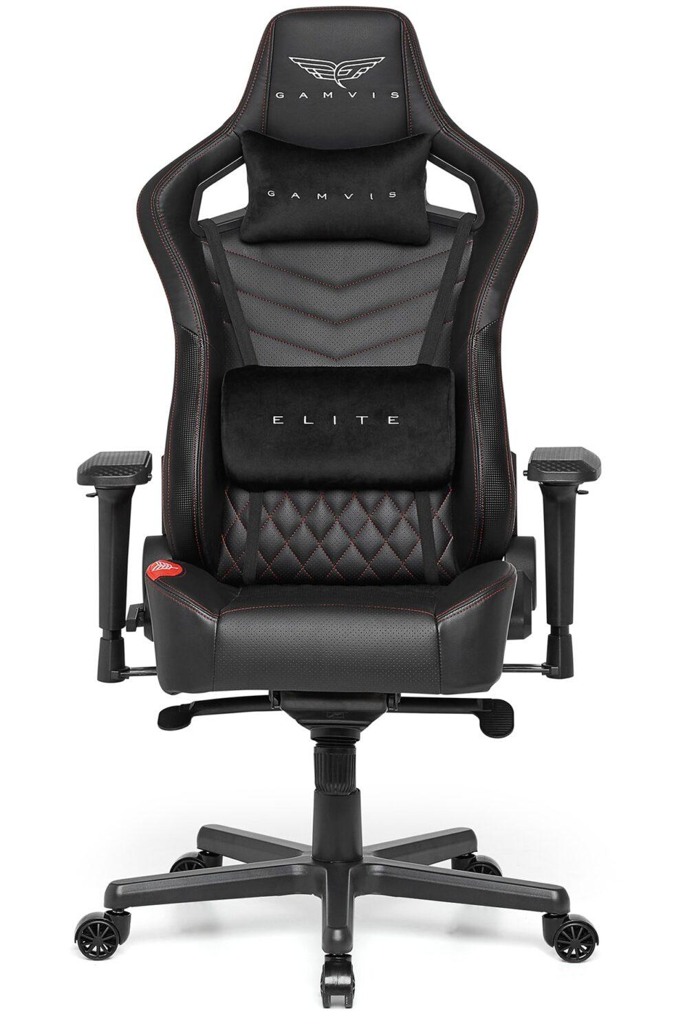 Fotel Gamingowy Gamvis ELITE Czarny Pikowany XL