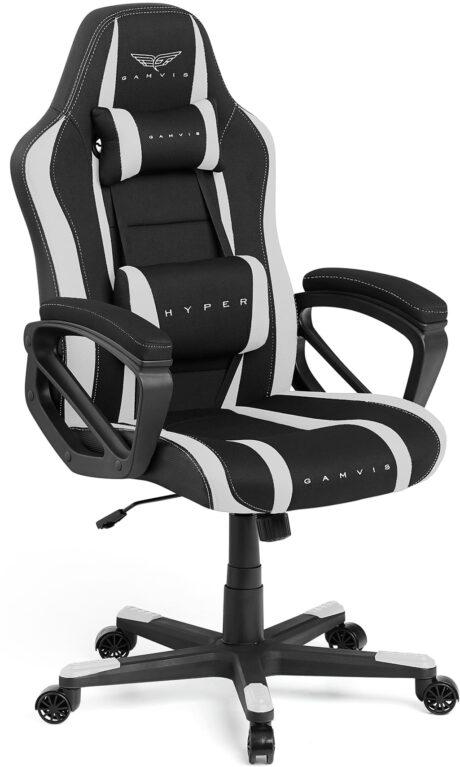 Materiałowy Fotel Gamingowy Gamvis HYPER Biały