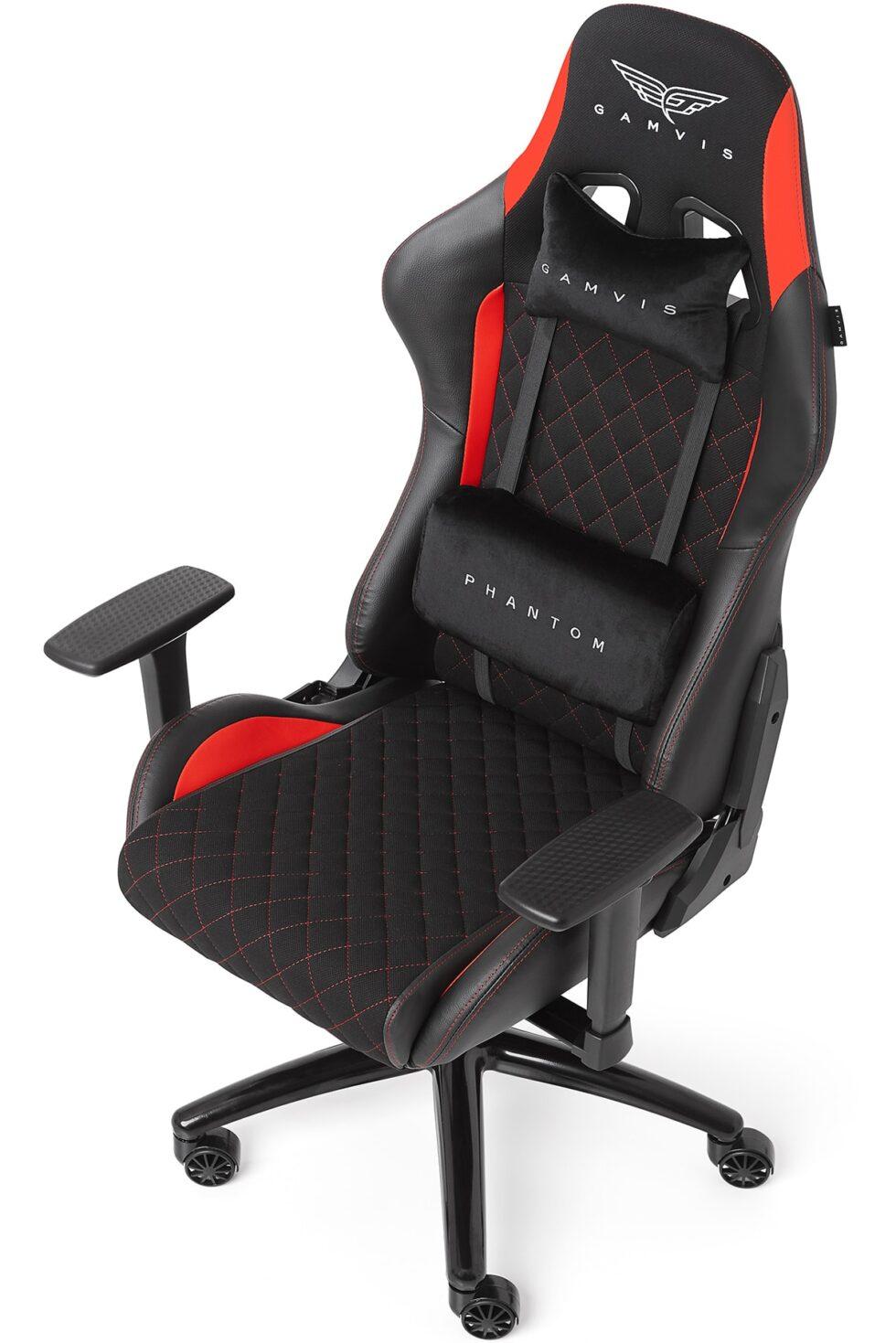 Materiałowy Fotel Gamingowy Gamvis PHANTOM Czerwony