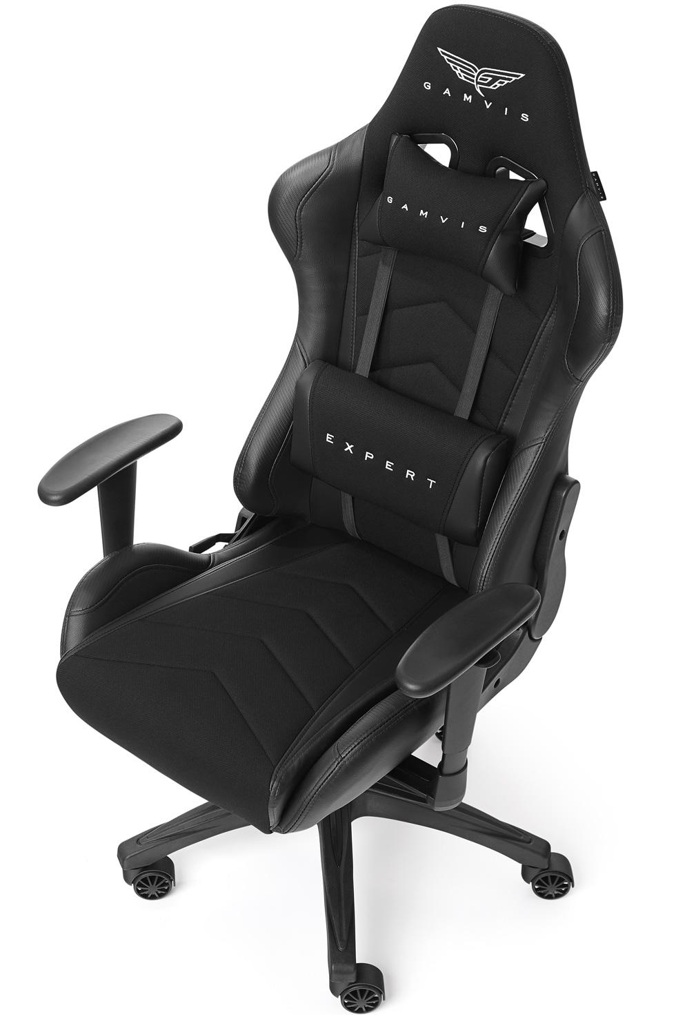 Materiałowy Fotel gamingowy Gamvis Expert Czarny 11-min-min