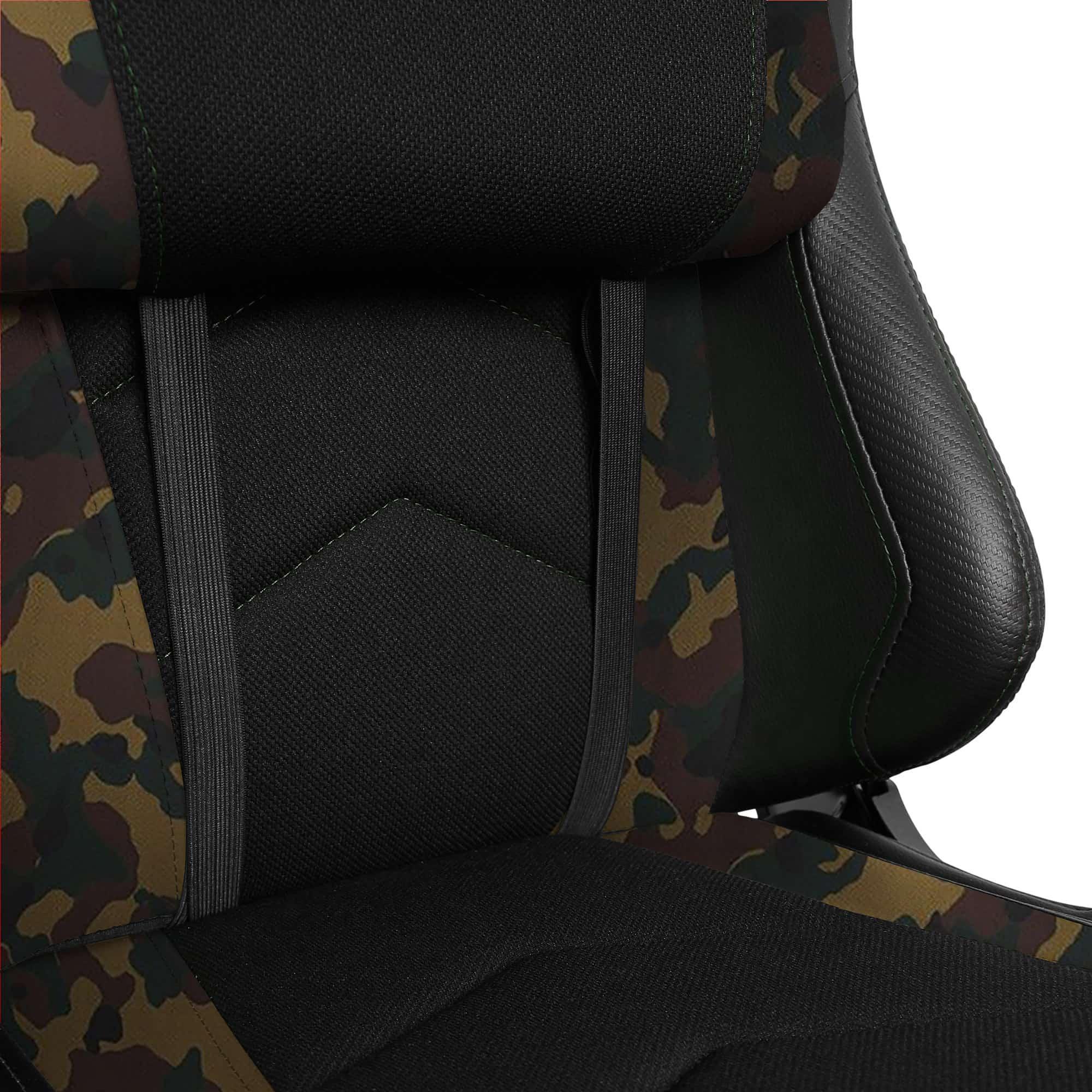 Materiałowy Fotel gamingowy Gamvis Expert Zielony Camo 8