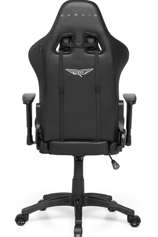 Materiałowy Fotel gamingowy Gamvis Expert Zielony Camo 11