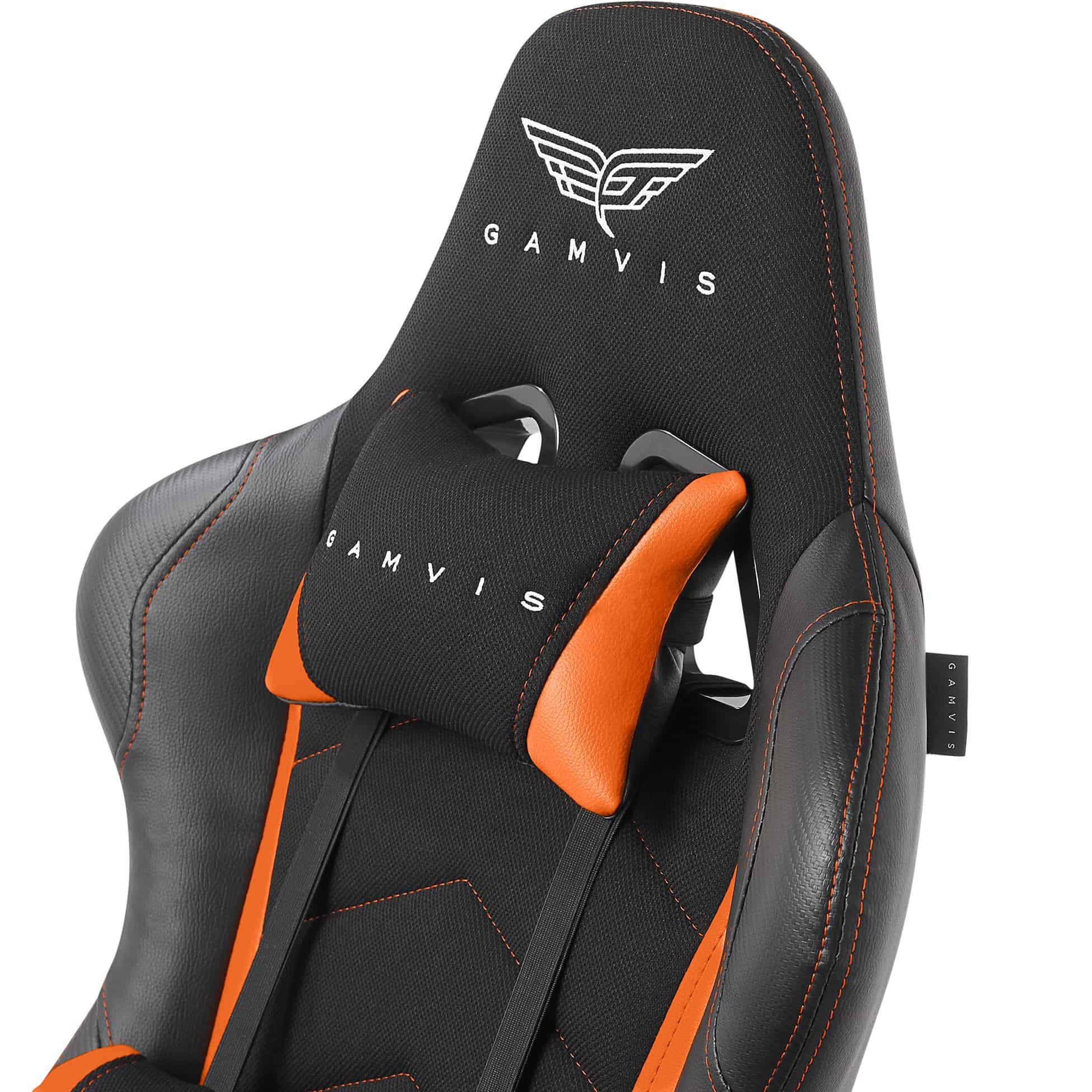 Materiałowy Fotel gamingowy Gamvis Expert Pomarańczowy 3