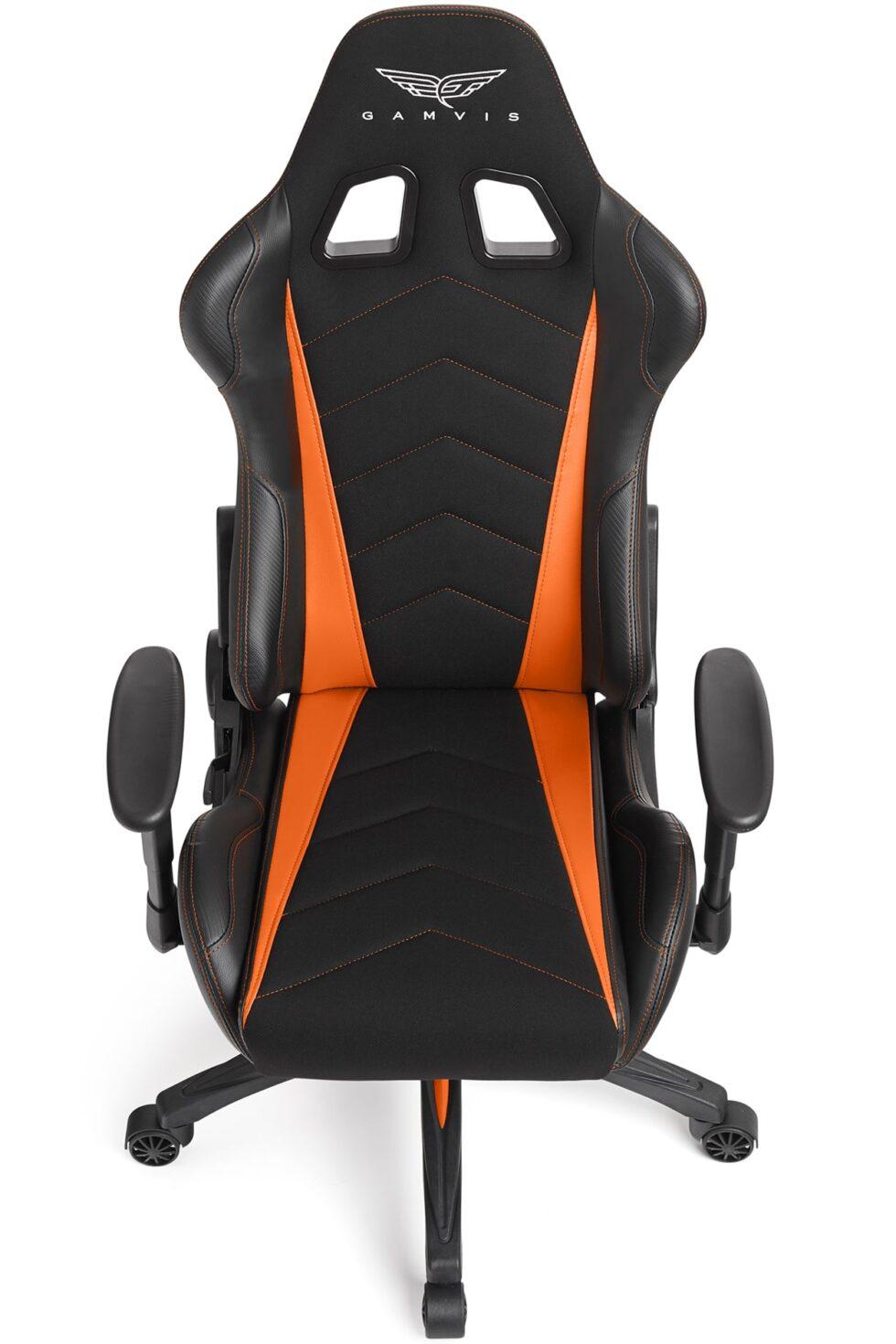 Materiałowy Fotel gamingowy Gamvis Expert Pomarańczowy 5