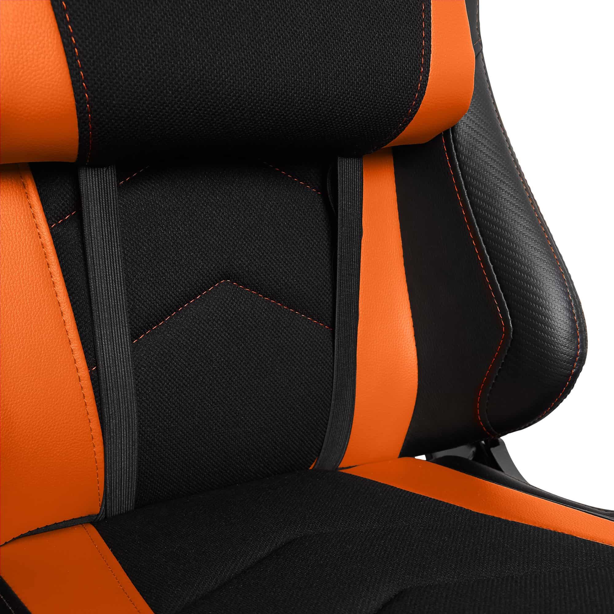 Materiałowy Fotel gamingowy Gamvis Expert Pomarańczowy 4