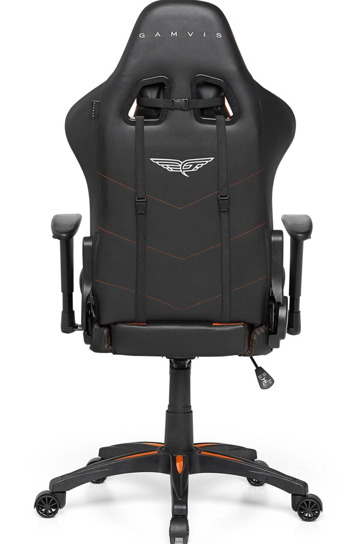 Materiałowy Fotel gamingowy Gamvis Expert Pomarańczowy 1