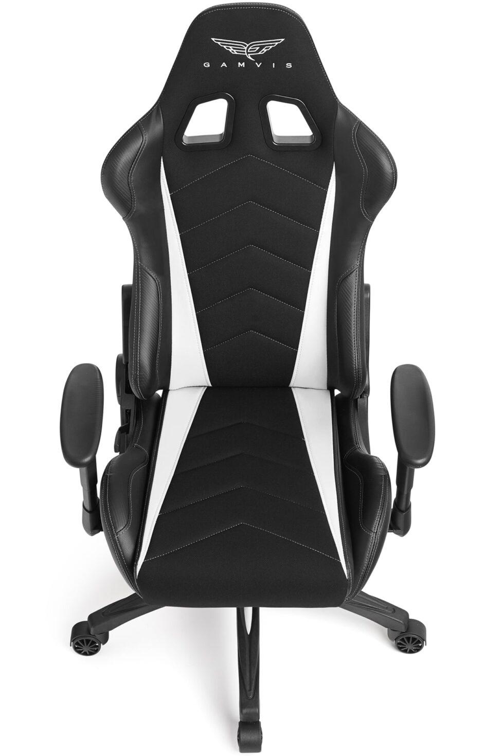 Materiałowy Fotel gamingowy Gamvis Expert Biały 4