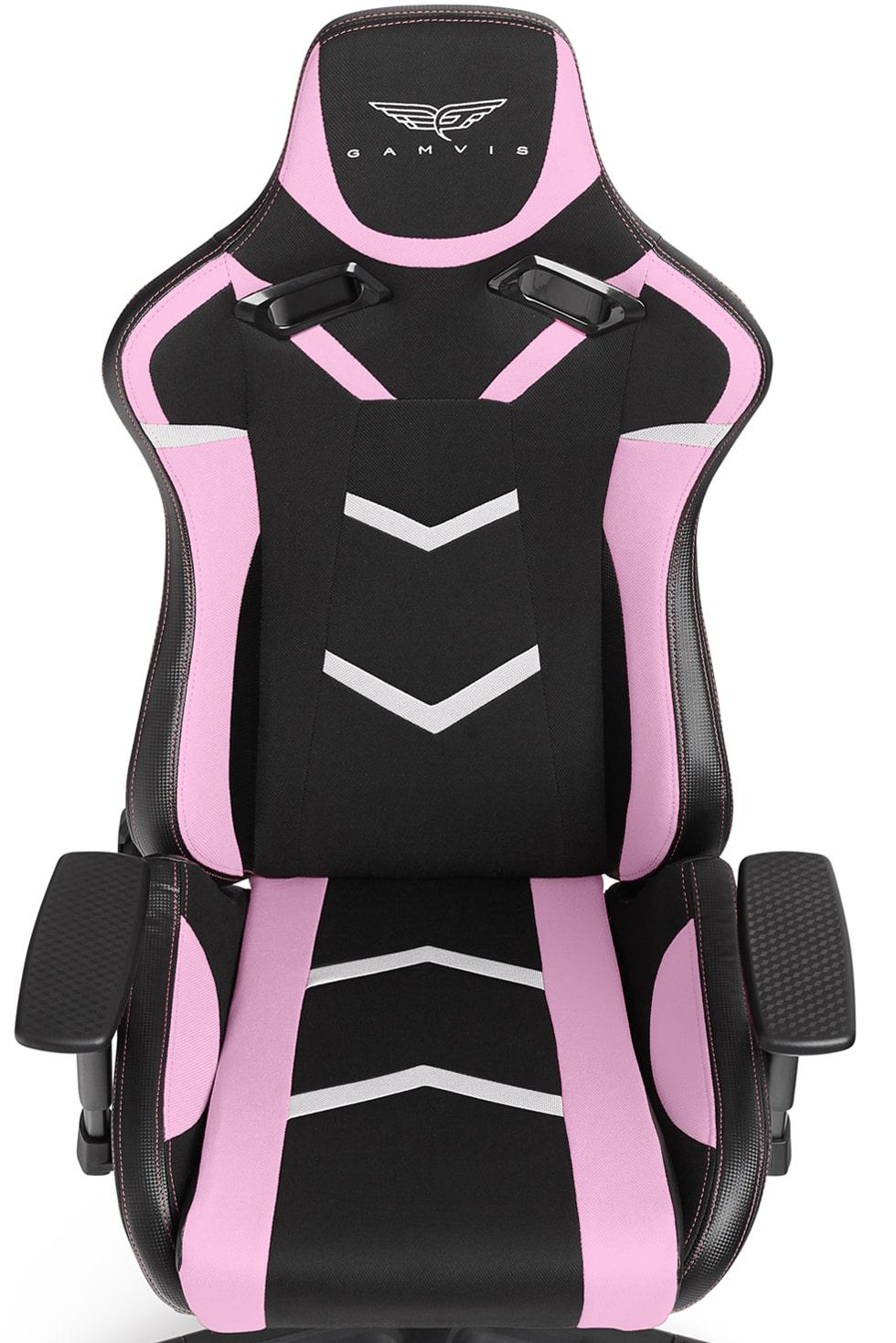 Materiałowy Fotel gamingowy Gamvis Furioso Różowy Damski