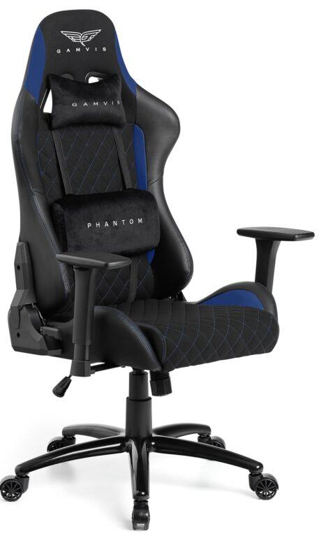 Materiałowy Fotel gamingowy Gamvis Phantom Niebieski