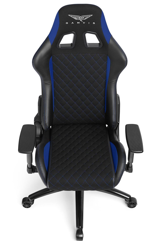 Materiałowy Fotel gamingowy Gamvis Phantom Niebieski 5