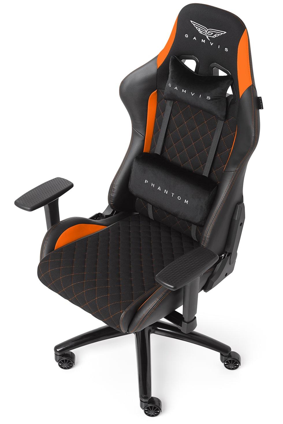 Materiałowy Fotel gamingowy Gamvis Phantom Pomarańczowy 33
