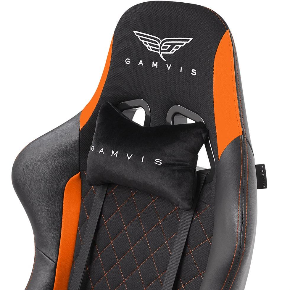 Materiałowy Fotel gamingowy Gamvis Phantom Pomarańczowy 3