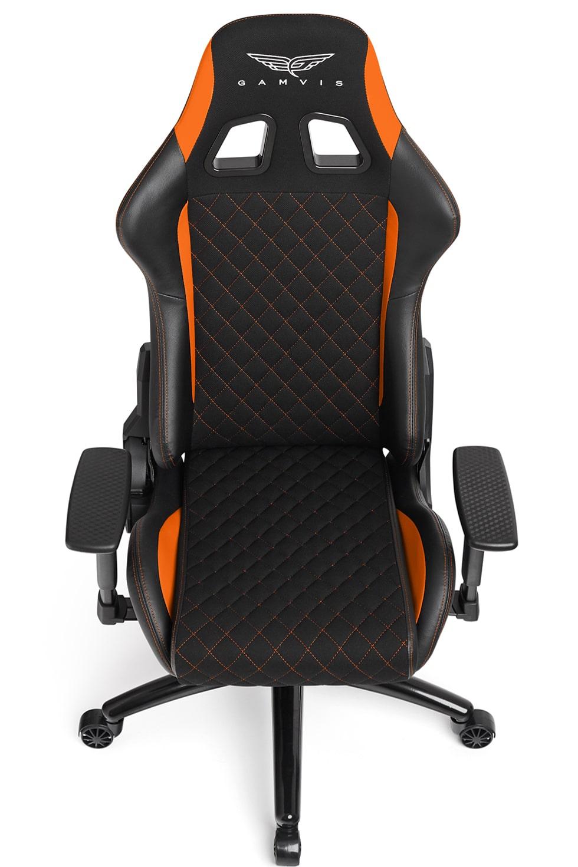 Materiałowy Fotel gamingowy Gamvis Phantom Pomarańczowy 4