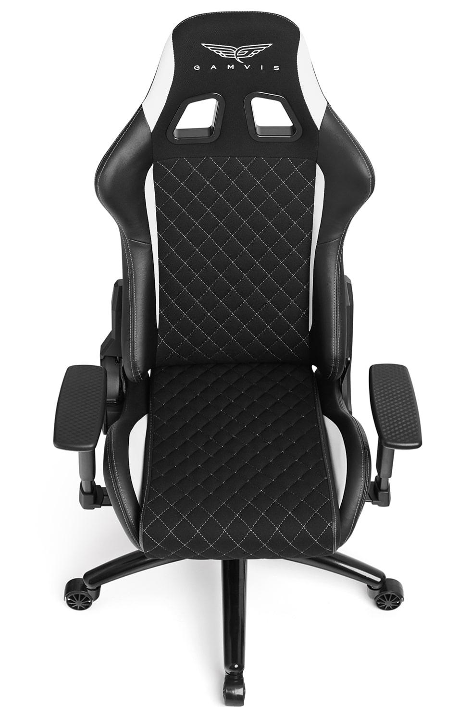 Materiałowy Fotel gamingowy Gamvis Phantom Biały 5