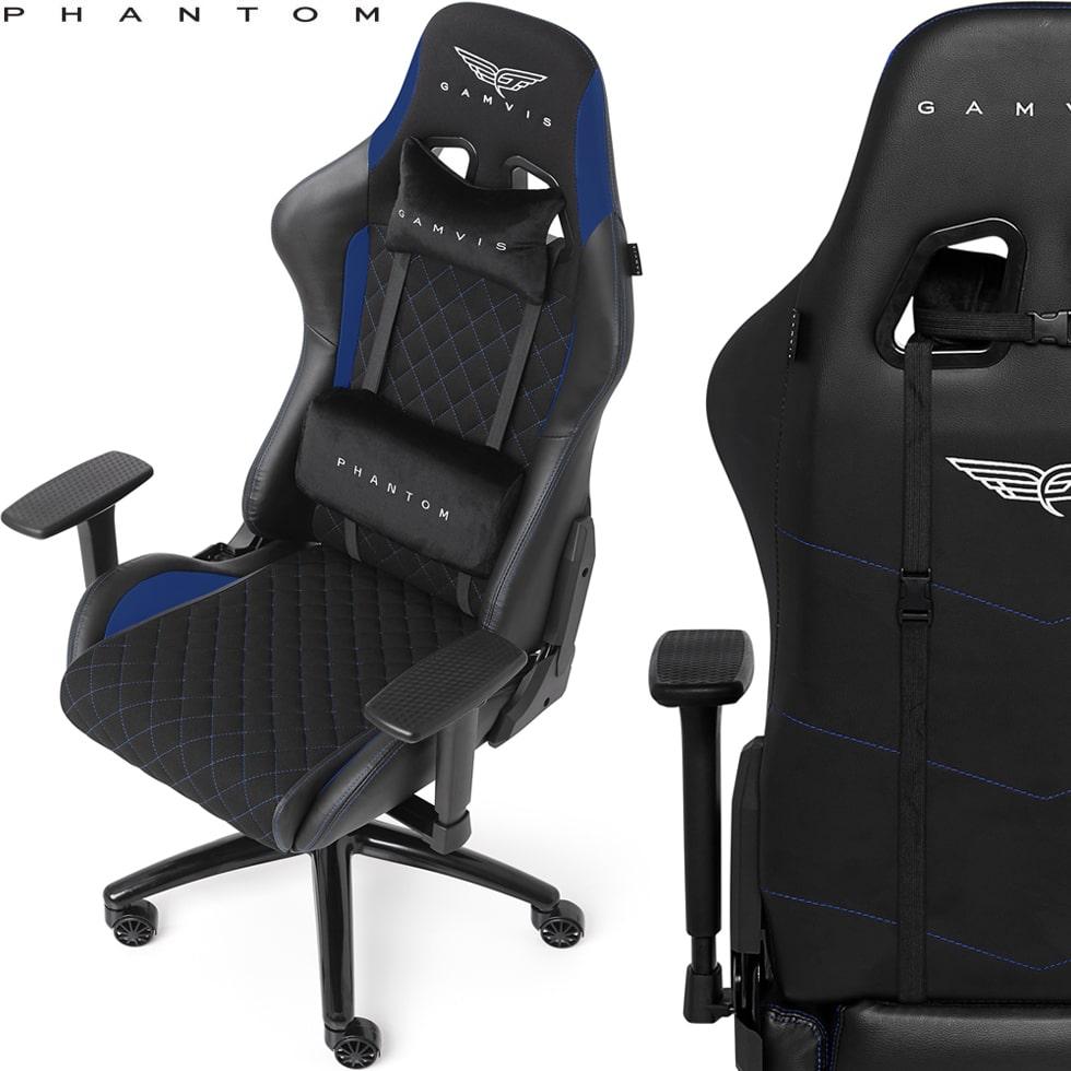 Materiałowy Fotel gamingowy Gamvis Phantom Niebieski 1
