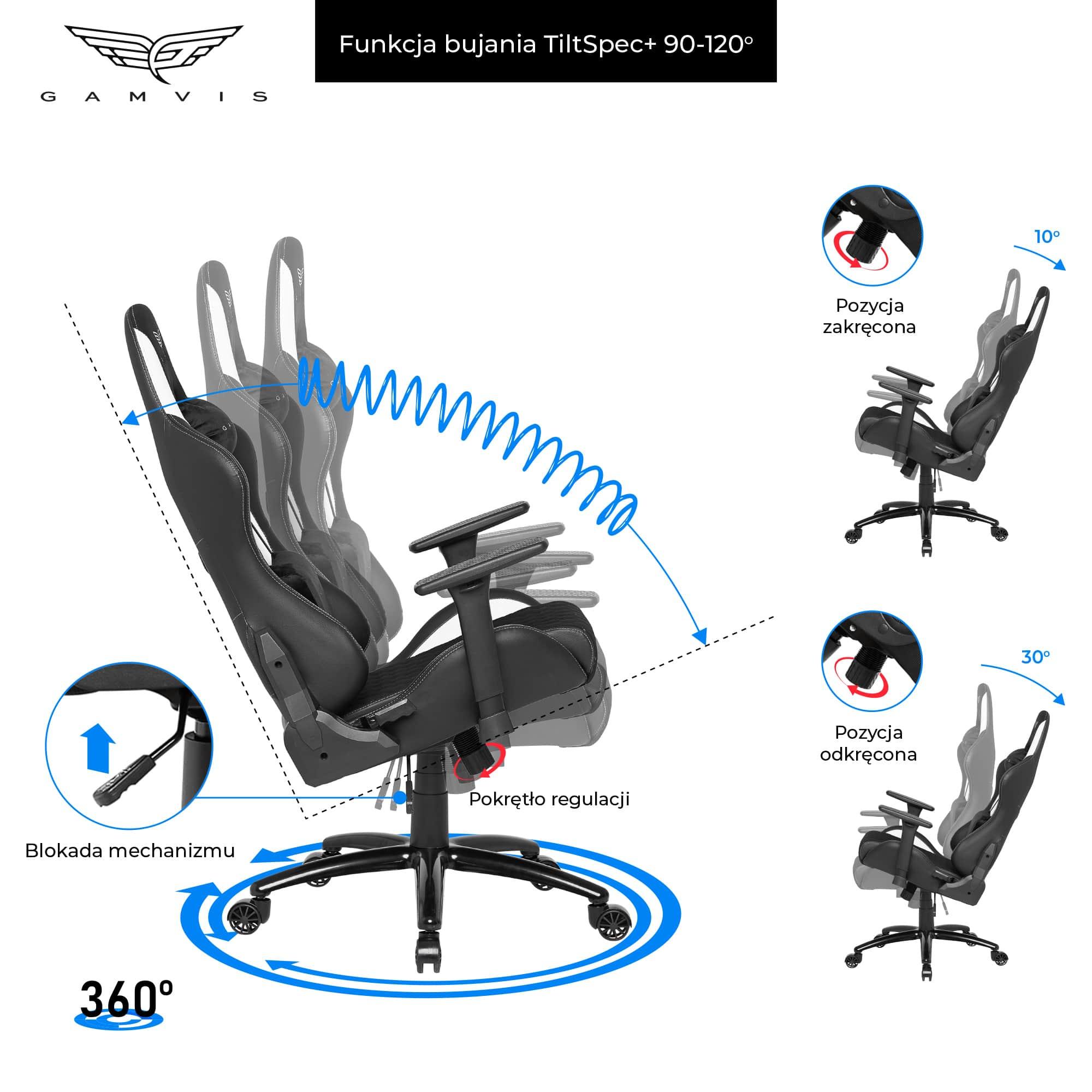 Materiałowy Fotel gamingowy Gamvis Phantom Biały 6