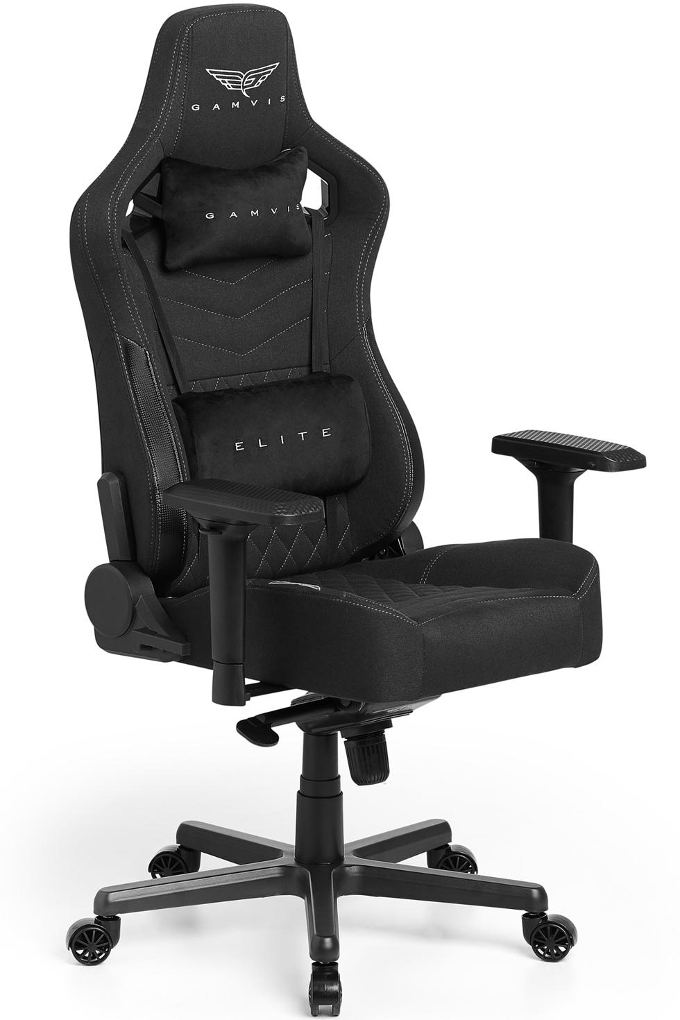Materiałowy Fotel gamingowy Gamvis Elite 2.0 XL Czarny Diamond White