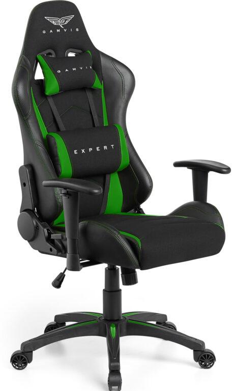 Materiałowy Fotel gamingowy Gamvis Expert zielony 2