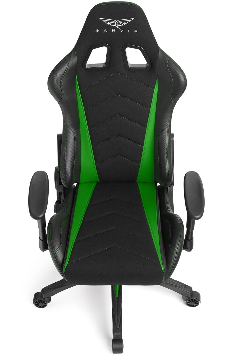 Materiałowy Fotel gamingowy Gamvis Expert zielony 4