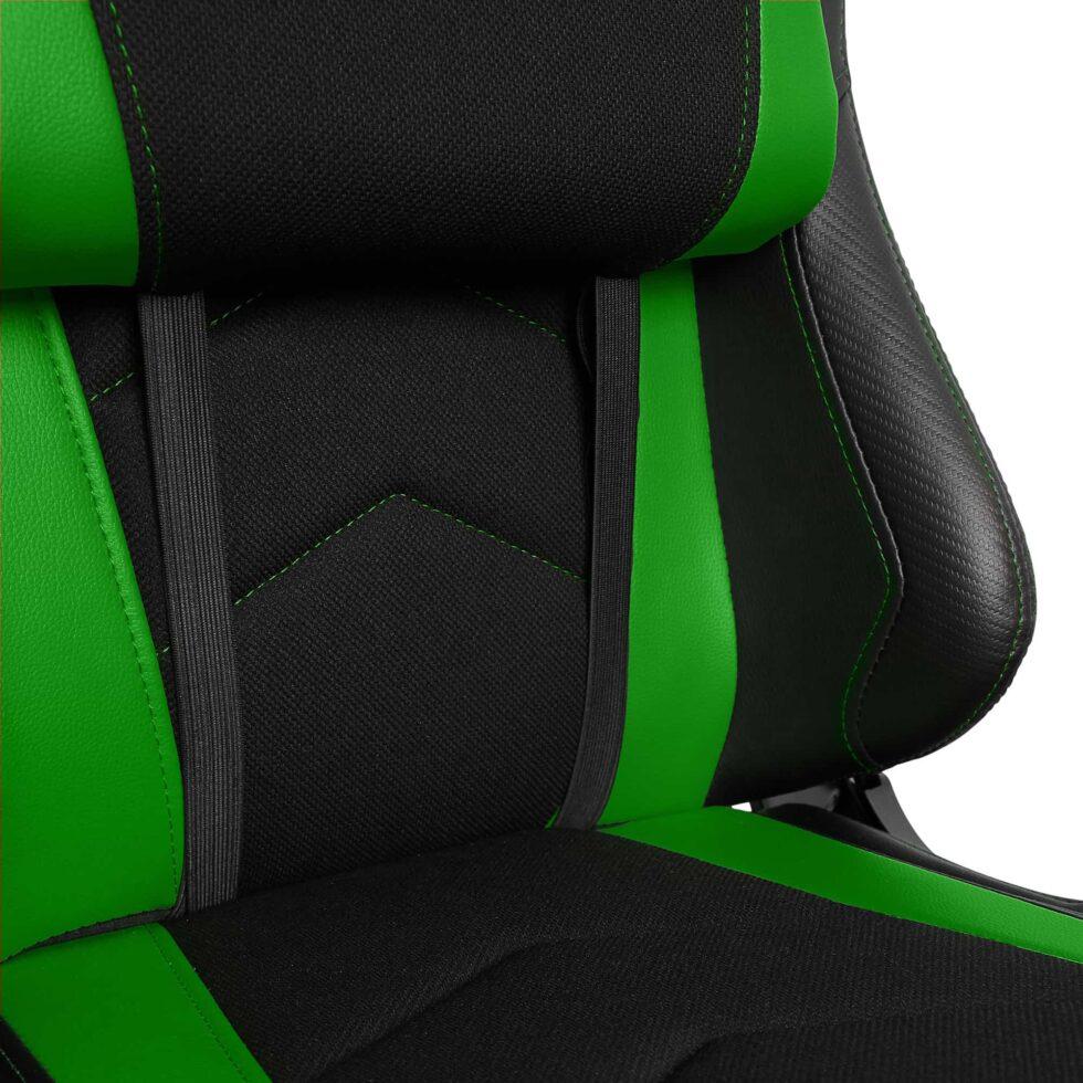 Materiałowy Fotel gamingowy Gamvis Expert zielony 3