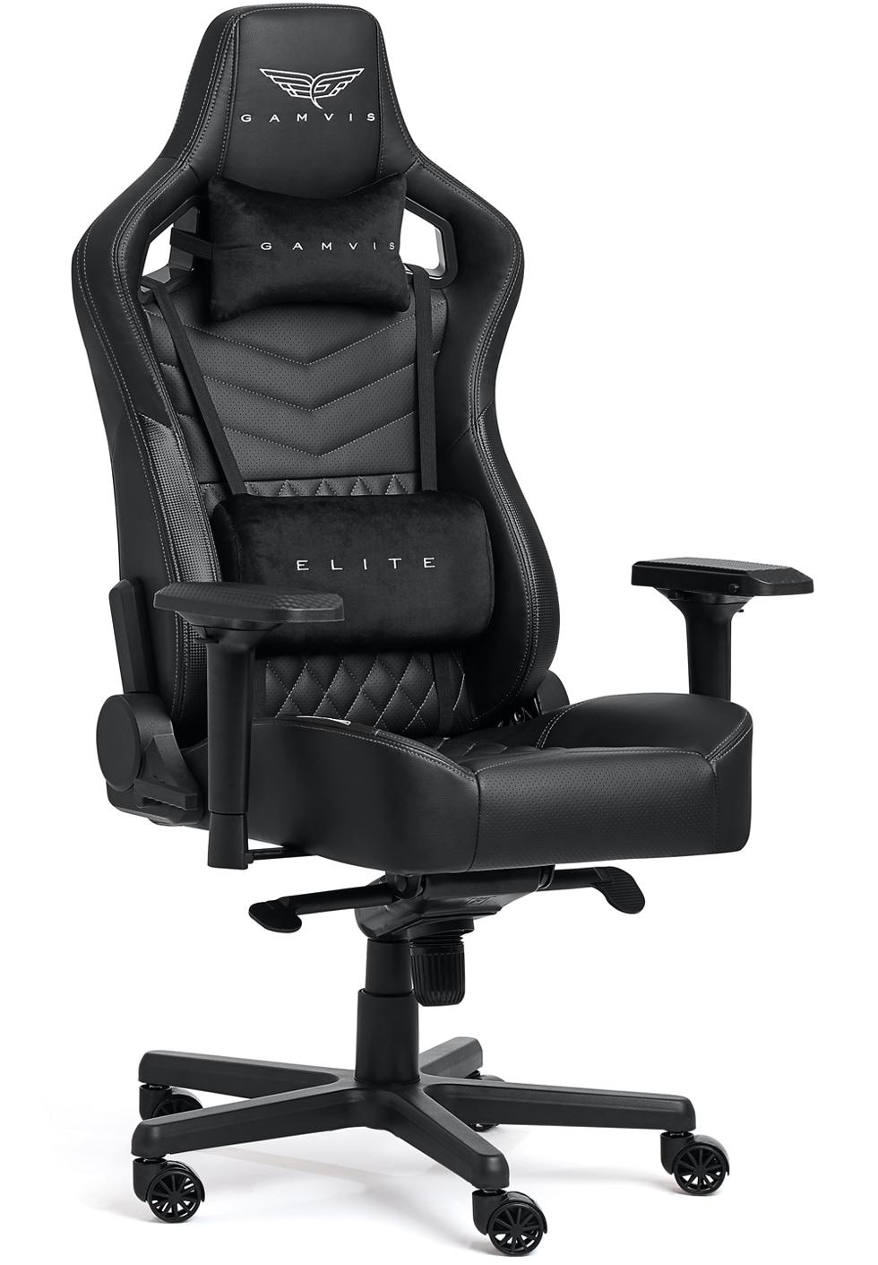 Pikowany Fotel gamingowy Gamvis Elite 2.0 XL Czarno-Biały Diamond White